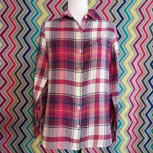 """Old Navy """"The Classic Shirt"""" Plaid Flannel Shirt"""